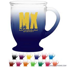 Promotional 16 oz. Cafe America Glass Mug with Custom Frost Glow