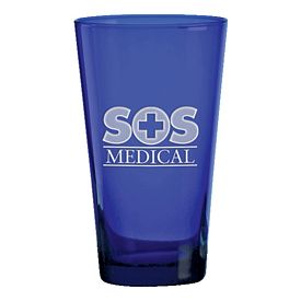 Promotional 17 oz. Midnight Blue Mixing Glass with Deep Etching