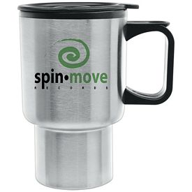 Promotional 14 oz. Super Saver Stainless Steel Travel Mug