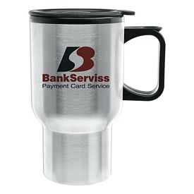 Promotional 14 oz. Super Saver DW Stainless Steel Tapered Travel Mug