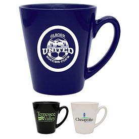 Promotional 12 oz. Cafe Ceramic Coffee Mug