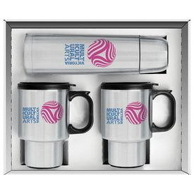 Promotional Three Piece Steel City Beverage Set