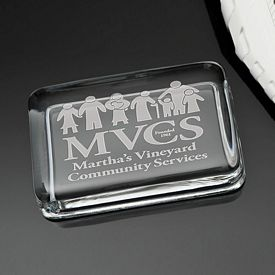 Promotional Deep Etched Rectangle Paperweight