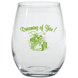 Promotional 9 oz. Stemless White Wine Glass