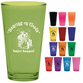 Promotional 16 oz. Pint Mixing Glass with Full Body Custom Glow