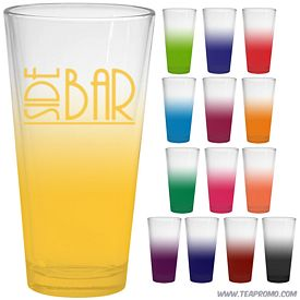 Promotional 20 oz. Large Mixing Glass with Custom Frost Glow