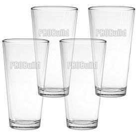 Promotional 20 oz. Large Mixing Glass 4-Pack Gift Set w/Deep Etch