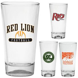 Promotional 16 oz. Sports Ball Mixing Glass