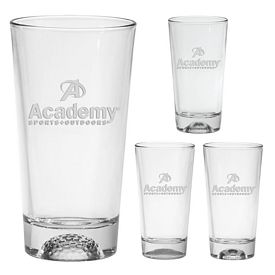 Promotional 16 oz. Sports Ball Mixing Glass with Deep Etching