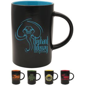 Promotional 14 oz. Ceramic Midnight Cafe Mug