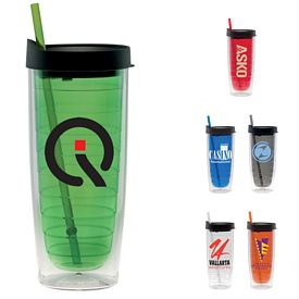 Promotional 20 oz. Straw Fun Cup Tumbler