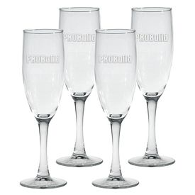 Promotional 5.75 oz. Nuance Champagne Flute 4-Pack Gift Set w/Deep Etch