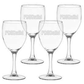 Promotional 8.5 oz. Nuance Wine Glass 4-Pack Gift Set w/Deep Etch