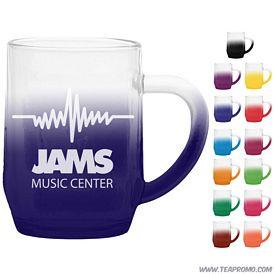 Promotional 10 oz. Glass Haworth Coffee Mug with Custom Frost Glow