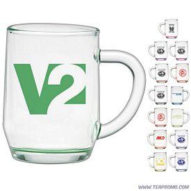 Promotional 10 oz. Glass Haworth Coffee Mug with Custom Glow