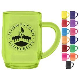 Promotional 10 oz. Glass Haworth Coffee Mug with Full Body Custom Glow
