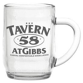 Promotional 10 oz. Glass Haworth Coffee Mug