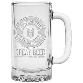 Promotional 16 oz. Brewmaster Tankard with Deep Etching