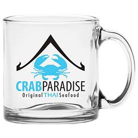 Promotional 13 oz. Clear Glass Coffee Mug