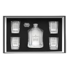 Promotional 24 oz. Decanter 4-Glasses Gift Set