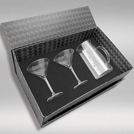 Promotional 44 oz. Pitcher & 2-Martini Glass Set