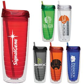 Promotional 20 oz. Large Straw Cool Cup Tumbler