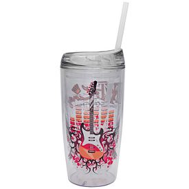 Promotional 15 oz. Full Color Vivid Print Straw Cool Cup Tumbler
