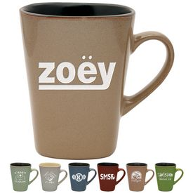 Promotional 14 oz. Sterling Coffee Mug with Deep Etching