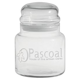 Promotional 16 oz. Apothecary Jar with Dome Lid with Deep Etching
