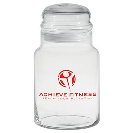 Promotional 26 oz. Apothecary Jar with Dome Lid