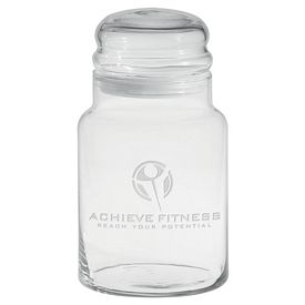 Promotional 26 oz. Apothecary Jar with Dome Lid with Deep Etching