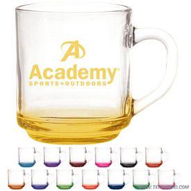 Promotional 10 oz. Capri Glass Coffee Mug with Custom Glow