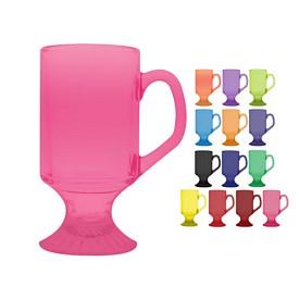 Promotional 10 oz. Irish Glass Coffee Mug with Full Body Custom Glow