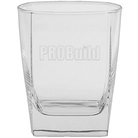 Promotional 13 oz. Sterling DOF Glass with Deep Etching