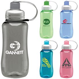 Promotional 28 oz. Silver Top Water Bottles