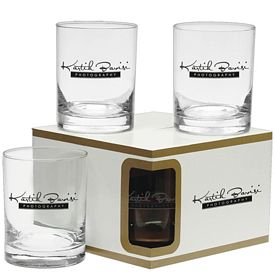 Promotional 14 oz. Executive D.O.F. Glasses Premium Set