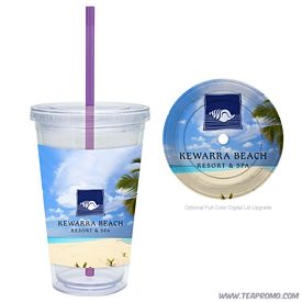 Promotional Full Color Digital 16 oz. Clear Classic Carnival Cup