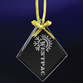 Promotional Christmas Diamond Etched Ornament