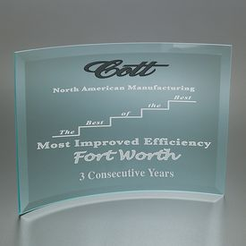 Promotional Large Curved Prisma Award