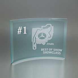 Promotional Small Curved Prisma Award