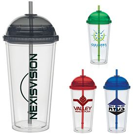 Promotional 20 oz. Color Dome Straw Carnival Cup