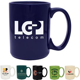Promotional 15 oz. Atlas Coffee Mug