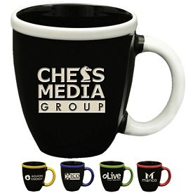 Promotional 12 oz. Mod Ceramic Mug with Deep Etching