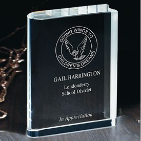 Promotional Large Optical Crystal Book Award