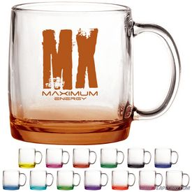 Promotional 13 oz. Nordic Glass Coffee Mug with Custom Glow