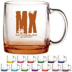 Promotional 13 oz. Nordic Glass Coffee Mug with Custom Glow