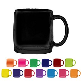 Promotional 13 oz. Nordic Glass Coffee Mug with Full Body Custom Glow