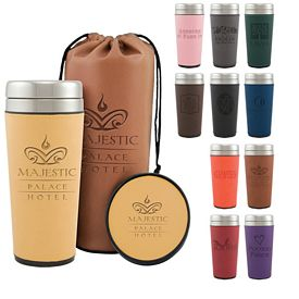 Promotional Regency 16 oz. Tumbler Coaster Gift Bag Set