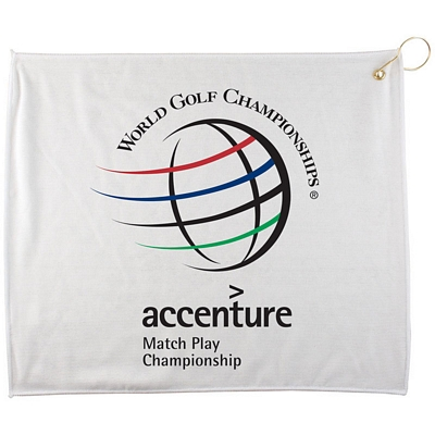 Promotional 15X18 Polyester Blend White Towel