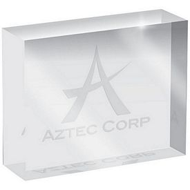 Promotional Etched Imprint Crystal Weight